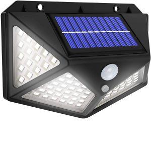 100 LED 270 degrees Solar Light Motion Light Sensor Outdoor Waterproof Garden Yard Patio Lamp BLACK for Sale in Ontario, CA