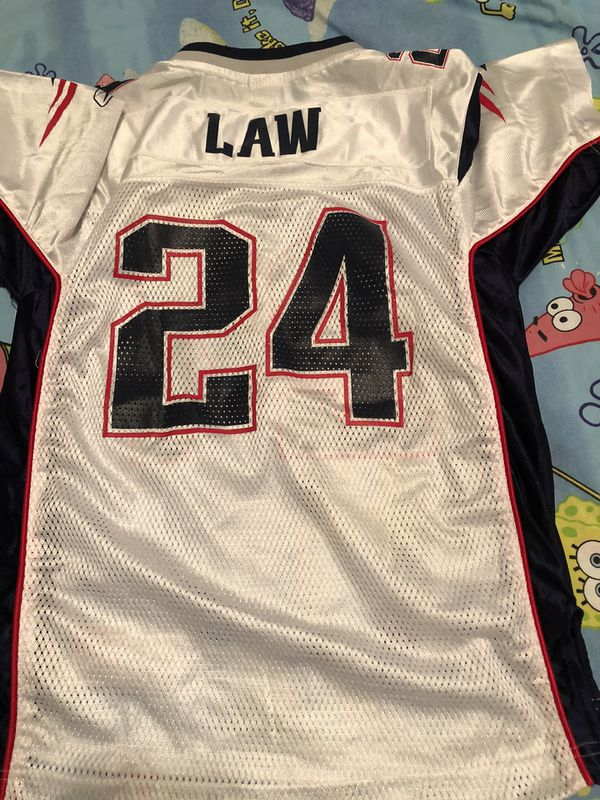 NFL New England patriots TY LAW Jersey #24