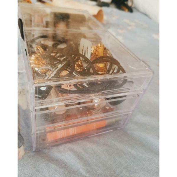 Plastic organizer w/ four drawers