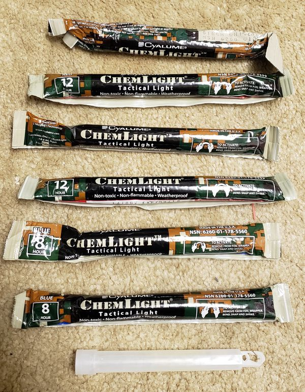 ChemLight Military Grade Chemical Light Sticks