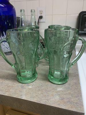 6 heavy coke glasses for Sale in Port Richey, FL