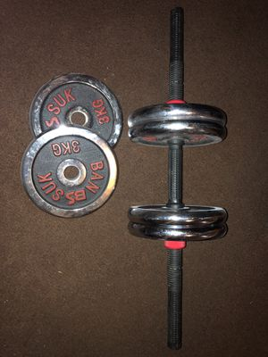 Adjustable Dumbbell (3 kg each plate) for Sale in Dallas, TX