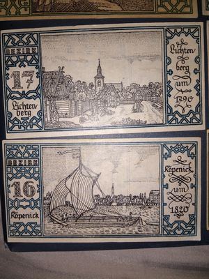 Antique German 50 Pfennig notes from 1923 for Sale in Bingham, ME