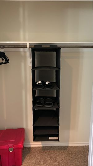 Closet Hanging Shoe Organizer for Sale in Houston, TX