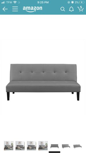 Gray Futon-leather couch for Sale in Philadelphia, PA