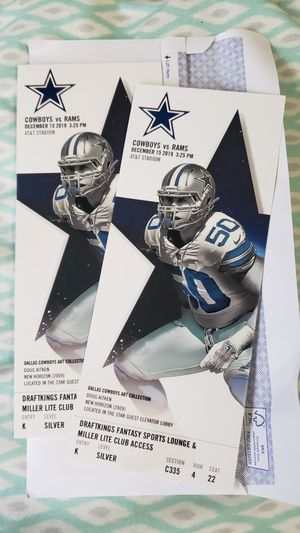Tickets for cowboys game for Sale in Carrollton, TX