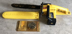 McCULLOCH ELECTRIC CHAINSAW w/ EXTRA CHAIN for Sale in DeSoto, TX