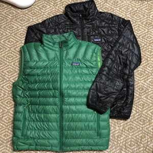 Patagonia Jackets Mens Large Lot of 2 Nano Puff/Down Vest for Sale in Seattle, WA