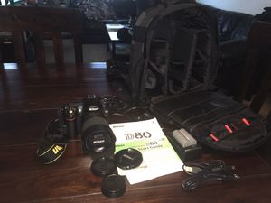 Nikon D-80 Digital Camera, Nikon DX lens, With Tamrac backpack case. for Sale in Renton, WA