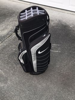 Nike Cart Bag Golf Black And Grey Good Shape for Sale in DuPont,  WA