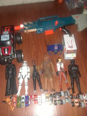Star wars figures, cars. Nerf gun for Sale in Chula Vista, CA