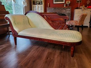 Swan Wood Chaise Longue Sofa Fainting Couch for Sale in Portland, OR