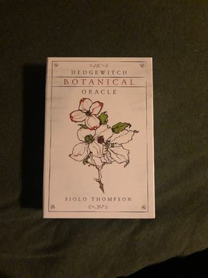 hedge witch's oracle deck and guide book for Sale in San Antonio, TX
