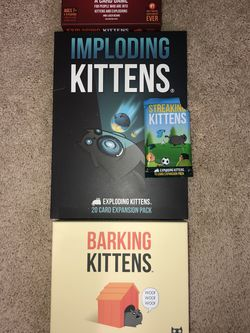 Explosing Kittens + All 3 Expansions for Sale in Washington,  DC