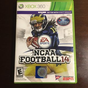 NCAA football 14 Xbox 360 for Sale in Glendale, AZ