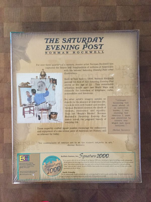 """The Saturday Evening Post - Norman Rockwell """" Soda Jerk"""" Puzzle by Buffalo Games, Inc."""