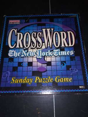 New York Times Crossword Puzzle Game for Sale in Fort Worth, TX