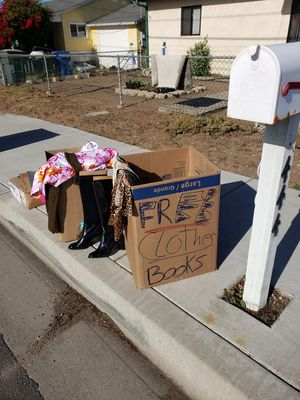 FREE CLOTHES AND SHOES 444 S.13 st Grover Beach on sidewalk for Sale in Grover Beach, CA
