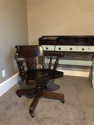 Vintage Ethan Allen Solid Wood Desk Chair for Sale in Phoenix, AZ