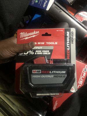 Milwaukee 18V 12amp high demand battery for Sale in Renton, WA