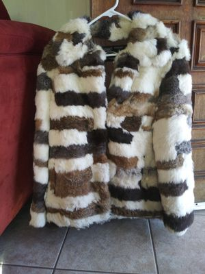 Antiques.vintage Montgomery ward 100% Genuine RABBIT fur jacket.size M for Sale in National City, CA