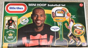 LITTLE TIKES LEBRON JAMES MINI HOOP BASKETBALL SET. Brand new. Ages 1-5. for Sale in Parma Heights, OH