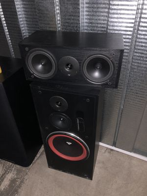 2 Cerwin Vegas LS-12 Floor Speakers and 1 LS-6C Center Channel Speaker for Sale in Chicago, IL