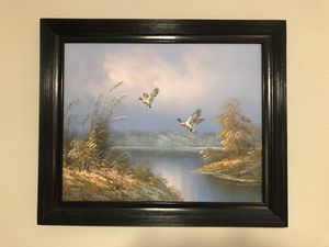 """Oil Painting Ducks in flight 24""""x20"""" for Sale in Apex, NC"""