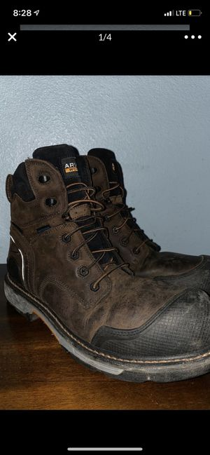 Ariats Mens preowned dark brown comosite toe laces boot size 13D for Sale in San Diego, CA