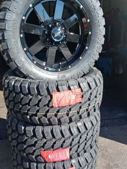 4 Wheels end tires chebrolet end dodge ram 8 Lug 8x6.5 for Sale in Mableton,  GA