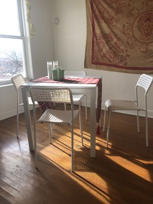 White table + chairs for Sale in Salt Lake City, UT