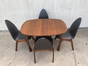 RARE Vintage Mid Century Modern Chet Beardsley Walter of Wabash Atomic Dining Set Table & 4 Chairs for Sale in San Diego, CA
