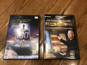 2X DVD family night games for kids and adults Deal or No Deal and 1 Vs 100...take both for $5 cash at pickup in Apex for Sale in Holly Springs, NC