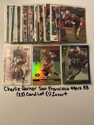 Charlie Garner San Francisco 49ers All Pro RB (25) Card Lot (1) Insert. for Sale in San Jose, CA