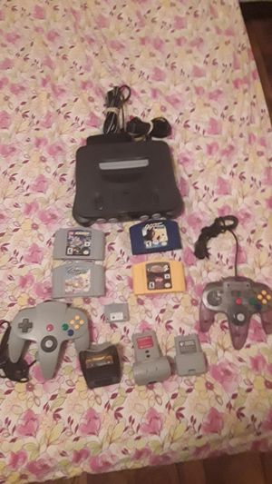 Orginal Nintendo 64 bundle lot with controllers,cords and games for Sale in Addison, IL