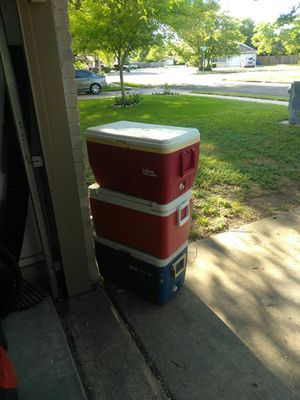 3 coolers for Sale in Cedar Park, TX