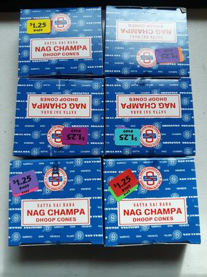 6 brand new unopened boxes of nag champa dhoop cones incense for Sale for sale  Lancaster, OH