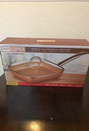 9 inch copper square pan for Sale in Fullerton, CA