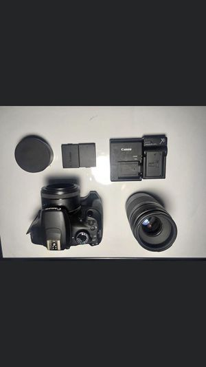 Canon t5 with 50mm lens and 75-300mm lens for Sale in Cleburne, TX