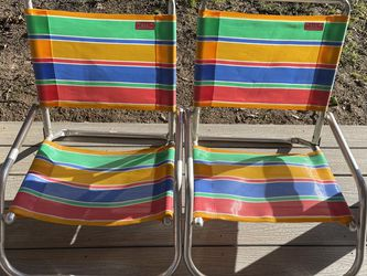 Vintage Rio Beach Collection Aluminum Striped Chairs for Sale in Beaverton,  OR