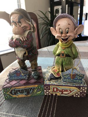 """Walt Disney showcase collection Grumpy """"it's all about the attitude """" and Dopey """"Simply adorable """" Jim Shore for Sale in Bonita, CA"""