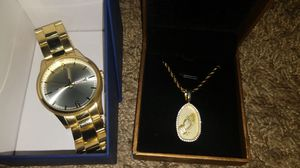 Gold chain and watch for Sale in Brentwood, CA