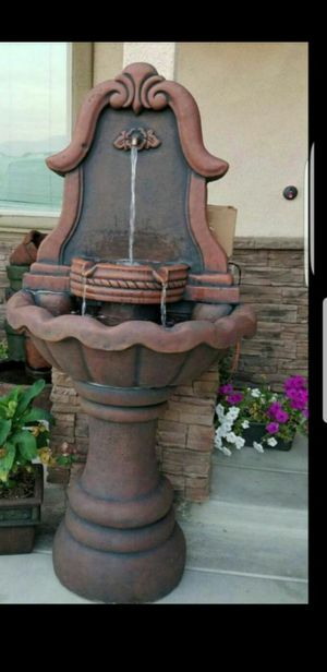 Nice water fountain. NEW! Concrete 3 piece. SEE other OFFERS 👉👉 for Sale in Riverside, CA