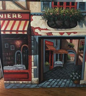 Sidewalk Cafe Canvas for Sale in Pembroke Pines, FL
