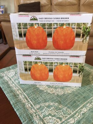 Himalaya Salt 4 piece candle Holder Brand new in box. for Sale in Arcadia, CA