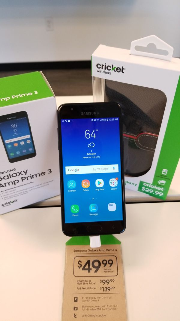 Cricket SAMSUNG GALAXY Amp Prime 3 for Sale in Bellingham, WA - OfferUp