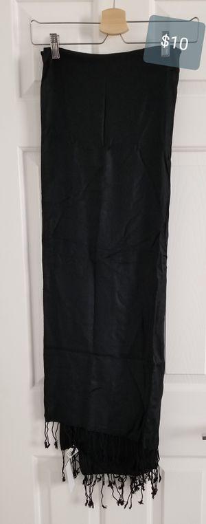 New long black shawl wrap scarf soft evening wedding pashmina bridesmaids for Sale in Las Vegas, NV