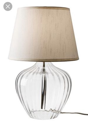 IKEA Jonsbo Orod glass base lamp and shade for Sale in Buena Park, CA