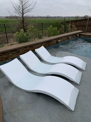 3 Ledge Lounger Pool Chairs for Sale in Fort Worth, TX