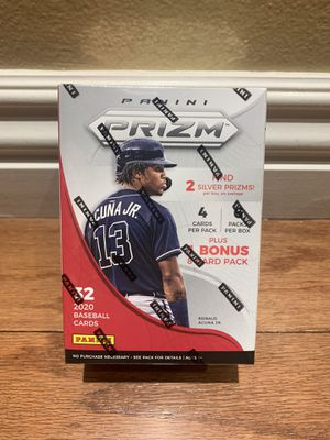2020 Panini Prizm Baseball Factory Sealed Blaster Box 6 Packs Plus 1 Extra Pack 32 Cards Per Box for Sale in Buena Park, CA